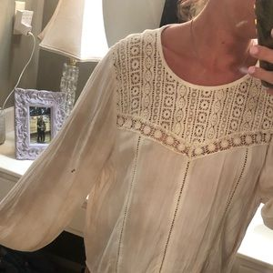 Cream top. Worn twice. Super cute with jeans